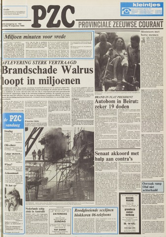 Provinciale Zeeuwse Courant 1986-08-15