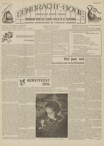 Eendrachtbode (1945-heden)/Mededeelingenblad voor het eiland Tholen (1944/45) 1959-12-24