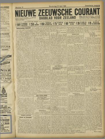 Nieuwe Zeeuwsche Courant 1921-04-21