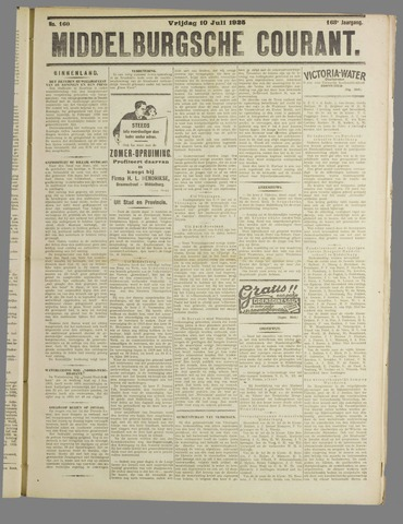 Middelburgsche Courant 1925-07-10