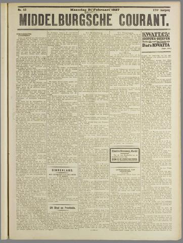 Middelburgsche Courant 1927-02-21