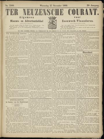 Ter Neuzensche Courant. Algemeen Nieuws- en Advertentieblad voor Zeeuwsch-Vlaanderen / Neuzensche Courant ... (idem) / (Algemeen) nieuws en advertentieblad voor Zeeuwsch-Vlaanderen 1889-11-27