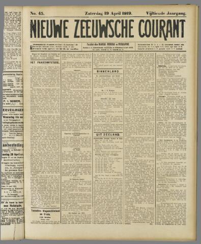 Nieuwe Zeeuwsche Courant 1919-04-19