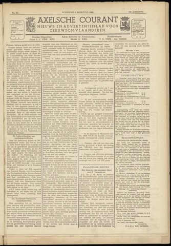Axelsche Courant 1945-08-08
