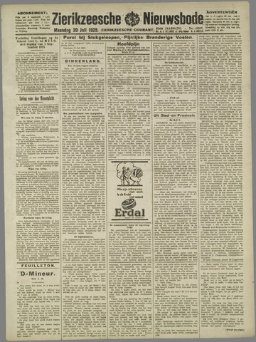Zierikzeesche Nieuwsbode 1925-07-20