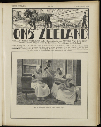 Ons Zeeland / Zeeuwsche editie 1929-09-21