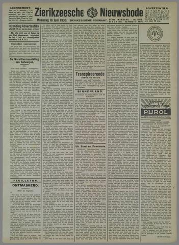 Zierikzeesche Nieuwsbode 1930-06-16