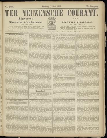 Ter Neuzensche Courant. Algemeen Nieuws- en Advertentieblad voor Zeeuwsch-Vlaanderen / Neuzensche Courant ... (idem) / (Algemeen) nieuws en advertentieblad voor Zeeuwsch-Vlaanderen 1887-07-02