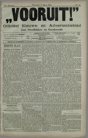 """""""Vooruit!""""Officieel Nieuws- en Advertentieblad voor Overflakkee en Goedereede 1915-03-17"""