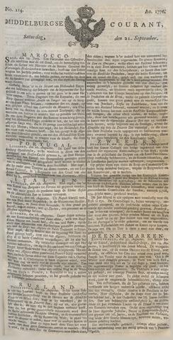 Middelburgsche Courant 1776-09-21