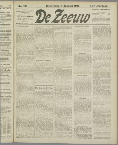 De Zeeuw. Christelijk-historisch nieuwsblad voor Zeeland 1916-01-06