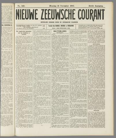 Nieuwe Zeeuwsche Courant 1907-11-26