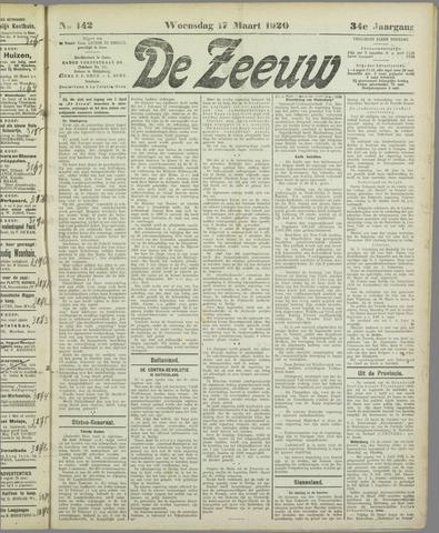 De Zeeuw. Christelijk-historisch nieuwsblad voor Zeeland 1920-03-17