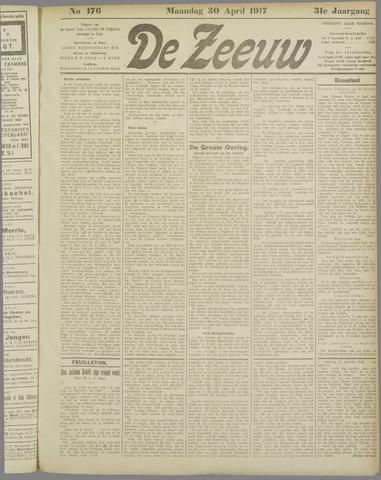 De Zeeuw. Christelijk-historisch nieuwsblad voor Zeeland 1917-04-30