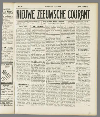 Nieuwe Zeeuwsche Courant 1909-07-27
