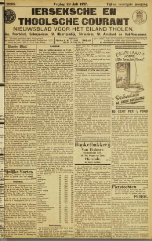Ierseksche en Thoolsche Courant 1927-07-29