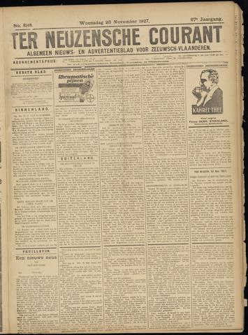 Ter Neuzensche Courant. Algemeen Nieuws- en Advertentieblad voor Zeeuwsch-Vlaanderen / Neuzensche Courant ... (idem) / (Algemeen) nieuws en advertentieblad voor Zeeuwsch-Vlaanderen 1927-11-23