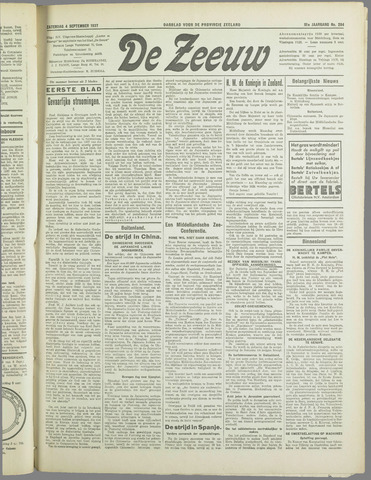 De Zeeuw. Christelijk-historisch nieuwsblad voor Zeeland 1937-09-04