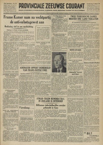 Provinciale Zeeuwse Courant 1950-03-09