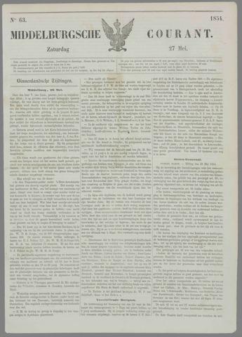 Middelburgsche Courant 1854-05-27