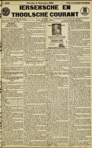 Ierseksche en Thoolsche Courant 1922-09-09