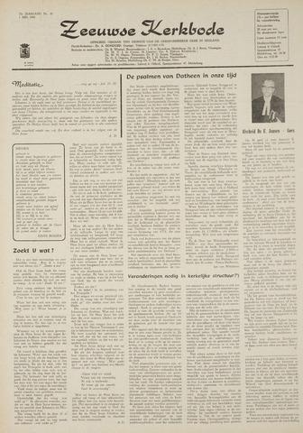 Zeeuwsche kerkbode, weekblad gewijd aan de belangen der gereformeerde kerken/ Zeeuwsch kerkblad 1969-05-01