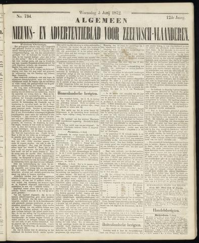 Ter Neuzensche Courant. Algemeen Nieuws- en Advertentieblad voor Zeeuwsch-Vlaanderen / Neuzensche Courant ... (idem) / (Algemeen) nieuws en advertentieblad voor Zeeuwsch-Vlaanderen 1872-06-05