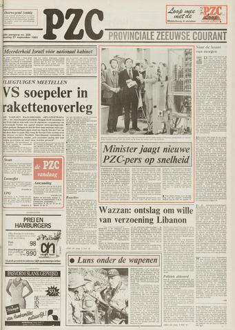 Provinciale Zeeuwse Courant 1983-09-27