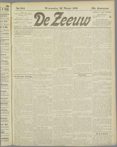 De Zeeuw. Christelijk-historisch nieuwsblad voor Zeeland 1917-03-21