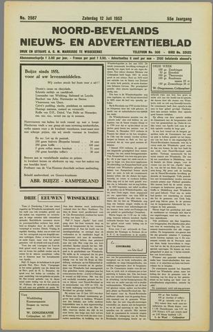 Noord-Bevelands Nieuws- en advertentieblad 1952-07-12