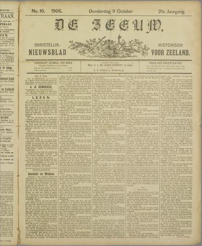 De Zeeuw. Christelijk-historisch nieuwsblad voor Zeeland 1906-10-11