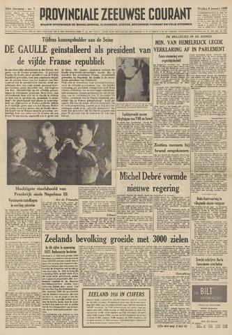 Provinciale Zeeuwse Courant 1959-01-09