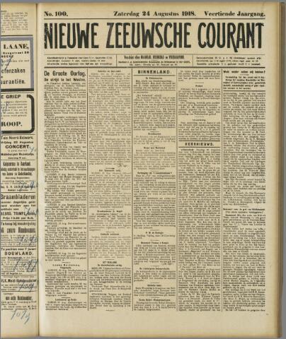 Nieuwe Zeeuwsche Courant 1918-08-24