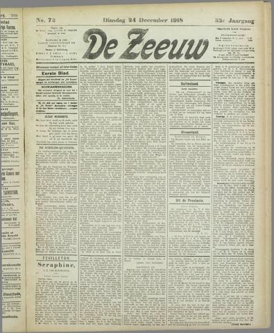 De Zeeuw. Christelijk-historisch nieuwsblad voor Zeeland 1918-12-24