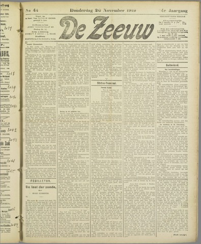 De Zeeuw. Christelijk-historisch nieuwsblad voor Zeeland 1919-11-20