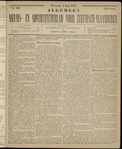 Ter Neuzensche Courant. Algemeen Nieuws- en Advertentieblad voor Zeeuwsch-Vlaanderen / Neuzensche Courant ... (idem) / (Algemeen) nieuws en advertentieblad voor Zeeuwsch-Vlaanderen 1873-06-04