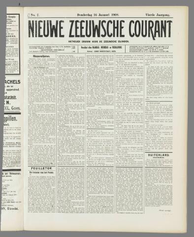 Nieuwe Zeeuwsche Courant 1908-01-16