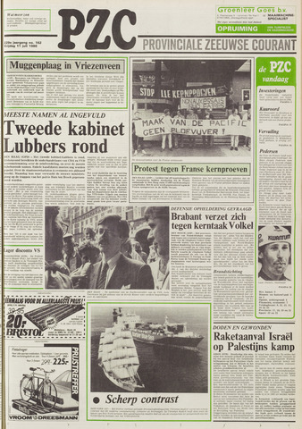 Provinciale Zeeuwse Courant 1986-07-11