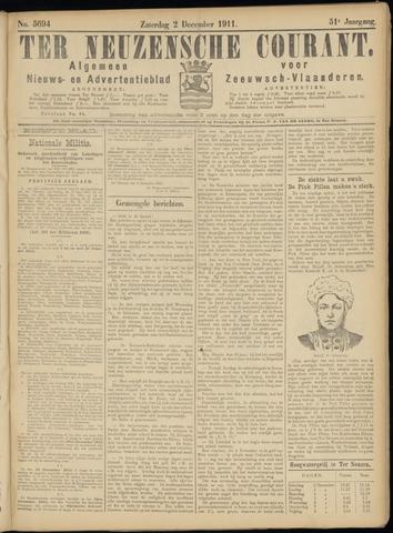 Ter Neuzensche Courant. Algemeen Nieuws- en Advertentieblad voor Zeeuwsch-Vlaanderen / Neuzensche Courant ... (idem) / (Algemeen) nieuws en advertentieblad voor Zeeuwsch-Vlaanderen 1911-12-02