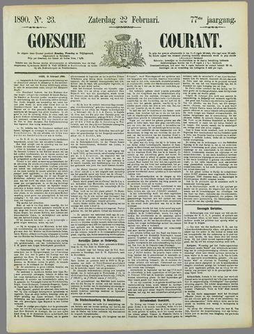 Goessche Courant 1890-02-22