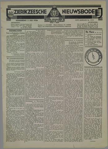 Zierikzeesche Nieuwsbode 1936-07-02