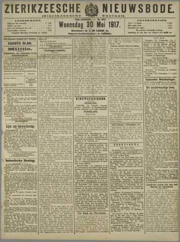 Zierikzeesche Nieuwsbode 1917-05-30