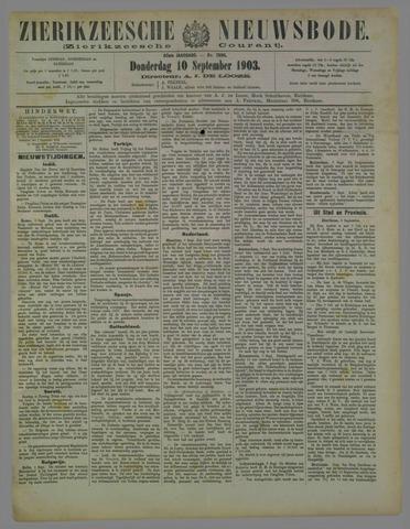 Zierikzeesche Nieuwsbode 1903-09-10