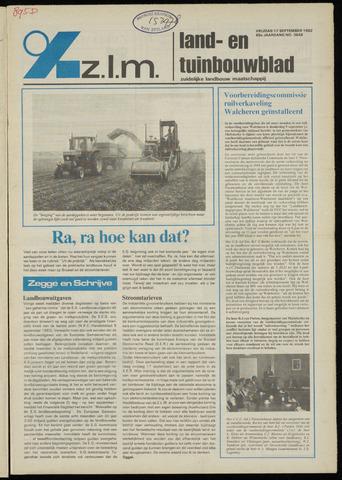 Zeeuwsch landbouwblad ... ZLM land- en tuinbouwblad 1982-09-17