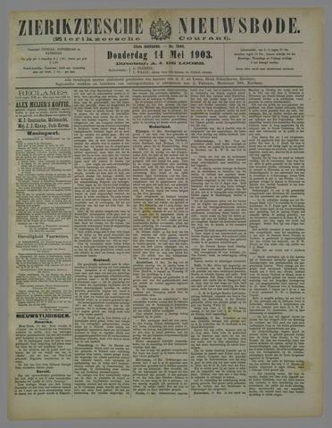Zierikzeesche Nieuwsbode 1903-05-14