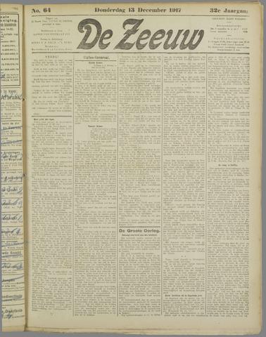 De Zeeuw. Christelijk-historisch nieuwsblad voor Zeeland 1917-12-13