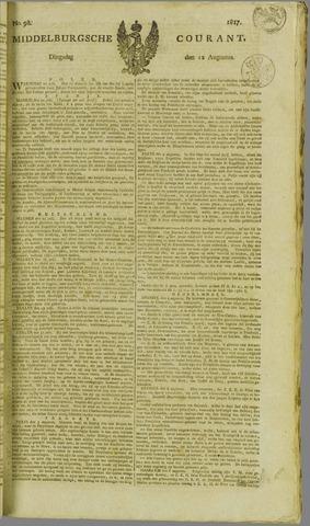 Middelburgsche Courant 1817-08-12