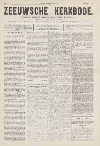 Zeeuwsche kerkbode, weekblad gewijd aan de belangen der gereformeerde kerken/ Zeeuwsch kerkblad 1936-08-14