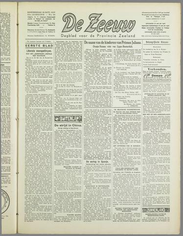 De Zeeuw. Christelijk-historisch nieuwsblad voor Zeeland 1937-10-28