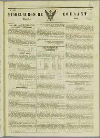 Middelburgsche Courant 1847-07-13